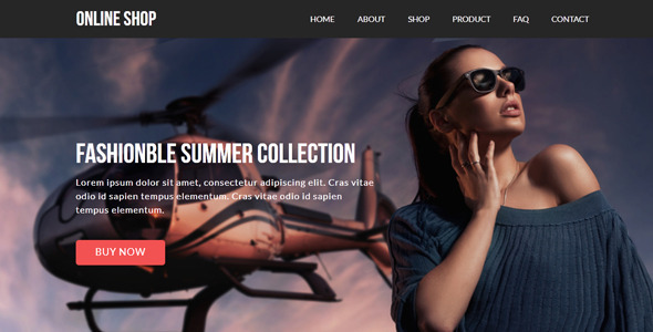 Online Shop — eCommerce Muse Template