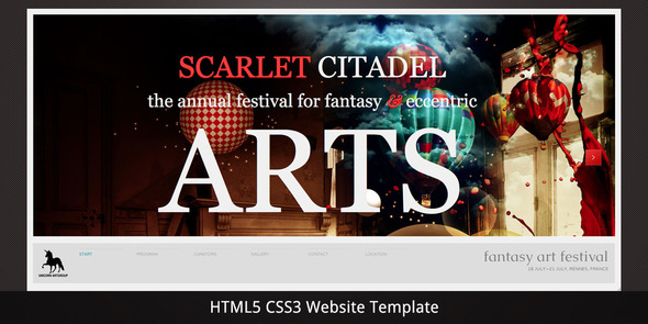 Scarlet Citadel – Bright Scrollable Event Web Flyer
