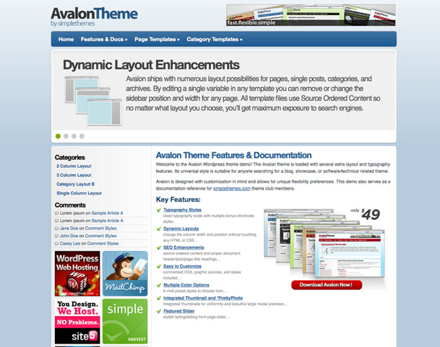 Avalon v1.9 – SimpleThemes Premium WordPress Theme