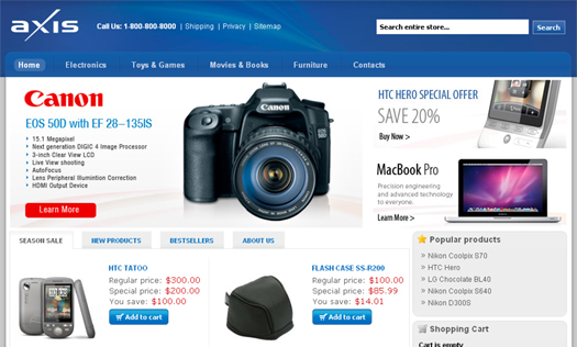 Axis Commerce – Open Source Free eCommerce CMS