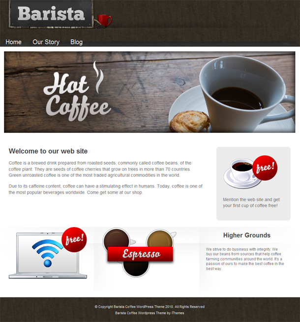 Barista Coffee v1.0.5 – iThemes Premium WordPress Theme