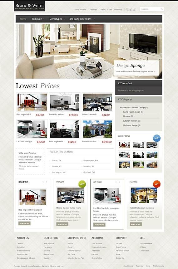 Black & White v1.0.5 Update – October 2010 GavickPro Template