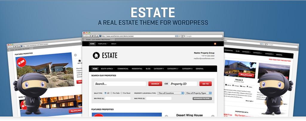 Estate v1.2.4 – July 2010 WooThemes Premium WordPress Theme