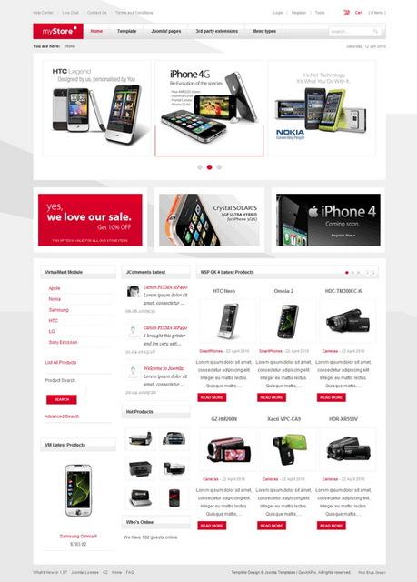 GavickPro Joomla myStore v2.0.16 Update – May 2010 Joomla Template