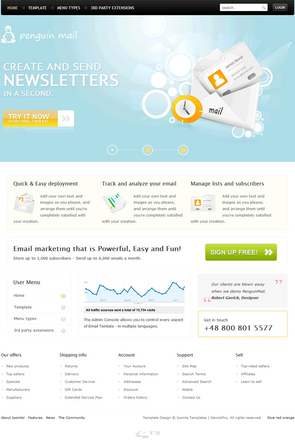 GK PenguinMail J1.5 v1.9 for J1.6 – December 2010 GavickPro Template