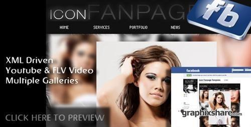 Icon Facebook Fanpage Flash Template