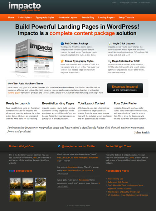 Impacto v1.2 – SimpleThemes Premium WordPress Theme