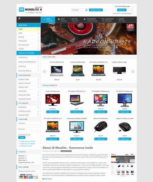 JA Mesolite II v1.1.3 Update – January 2010 Bonus Template