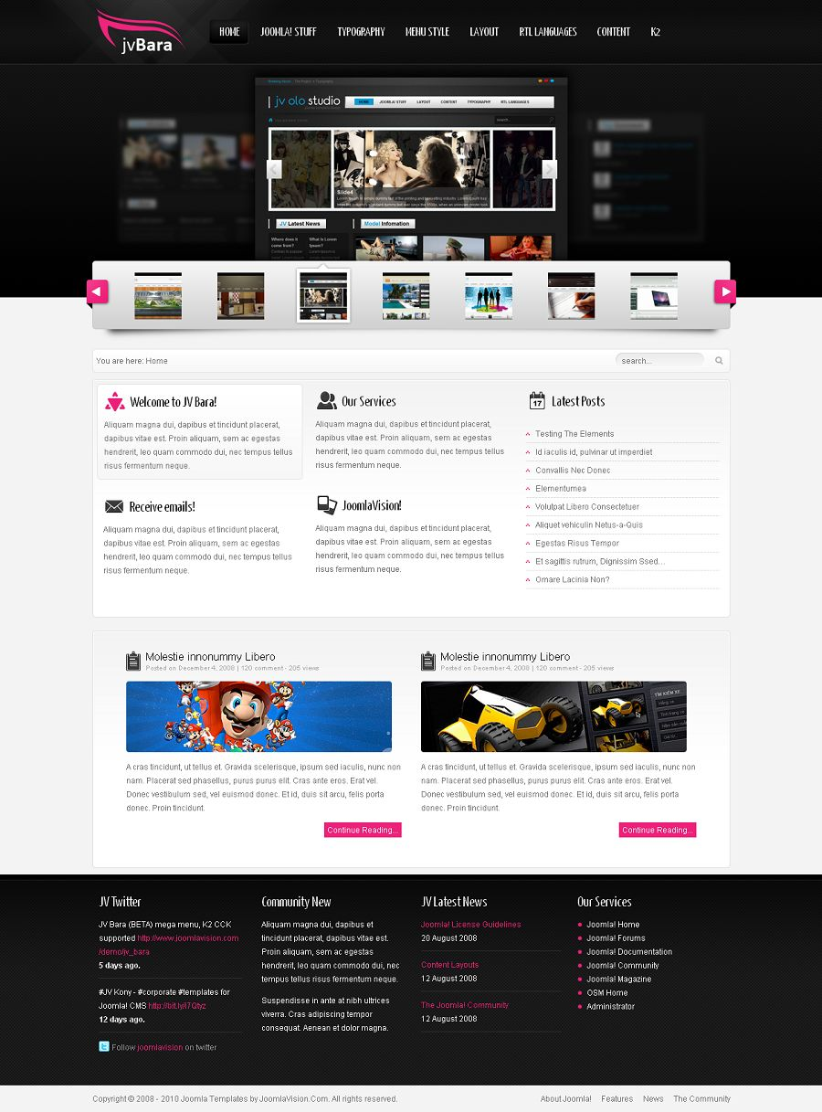 JV Bara v1.5.2 For Joomla 1.5.x & Joomla 1.6.x – elegance templates for Joomla! website