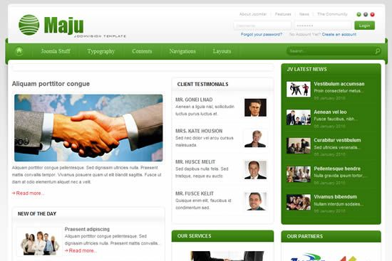 JV Maju v1.5.0 For Joomla 1.5 & Joomla 1.6 – Yet another Joomla! business template