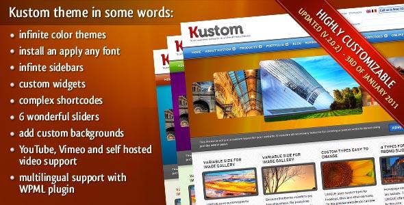 Kustom – Your custom website in a ThemeForest Premium WordPress Theme