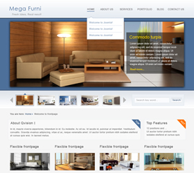 Mega Furni Joomla 1.5 – A quite special for Furniture Joomla template