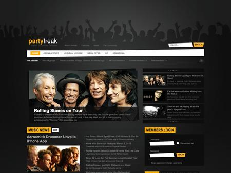 Partyfreak v2.0.17 Update – March 2010 Joomla Template