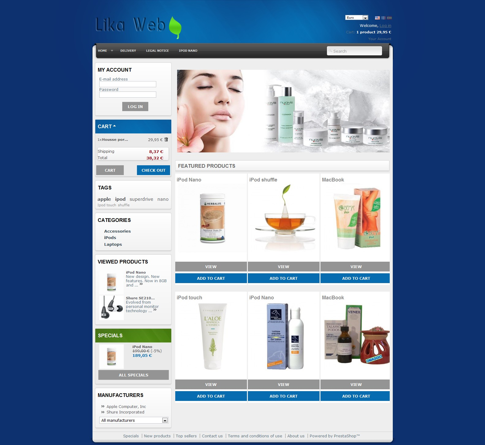 Prestashop Theme Natural product