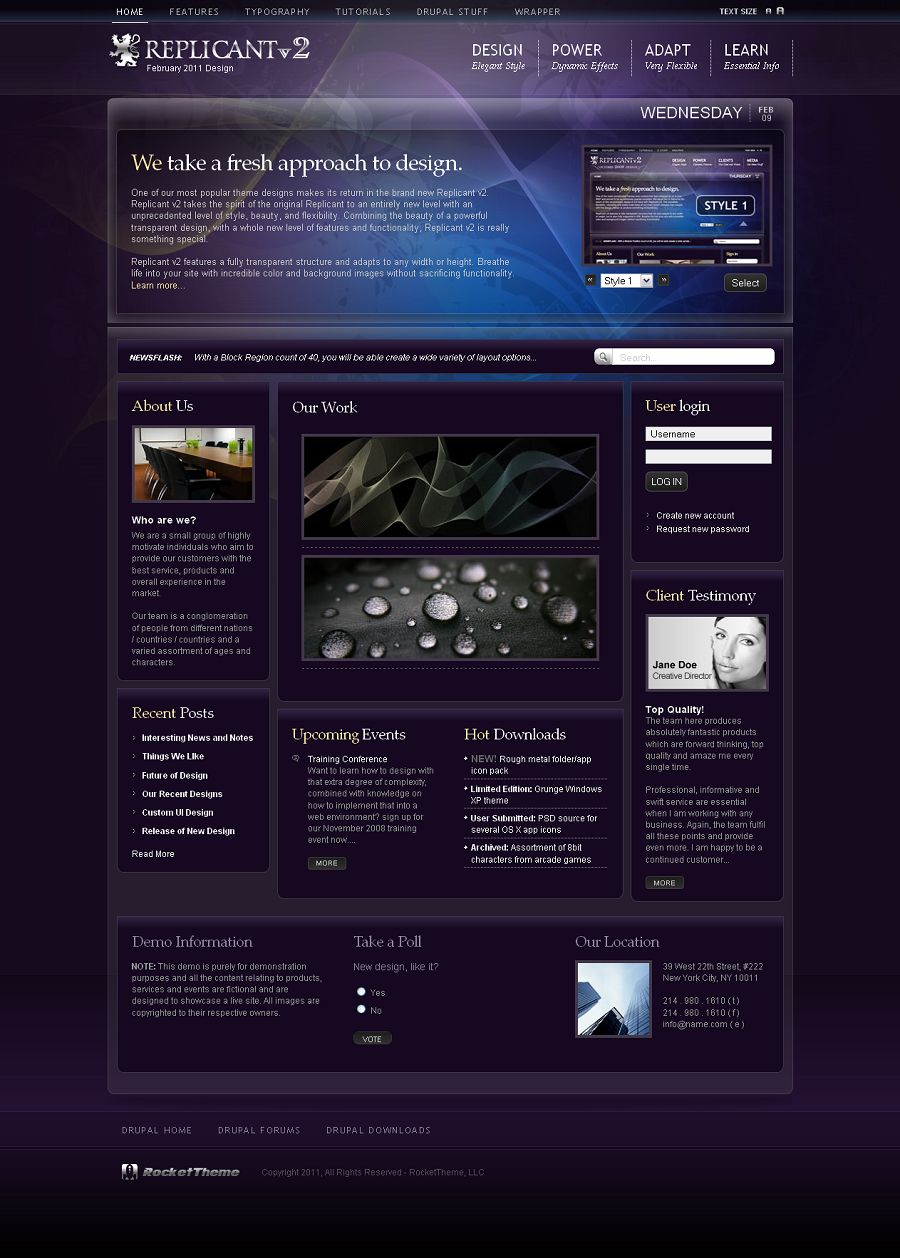 Replicant 2 – RocketTheme Drupal Theme WP Themes