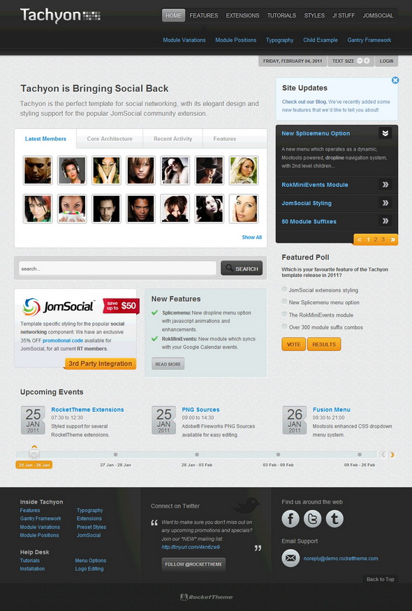RocketTheme Tachyon v1.5.7 & v1.6.3 – February 2011 Joomla Template