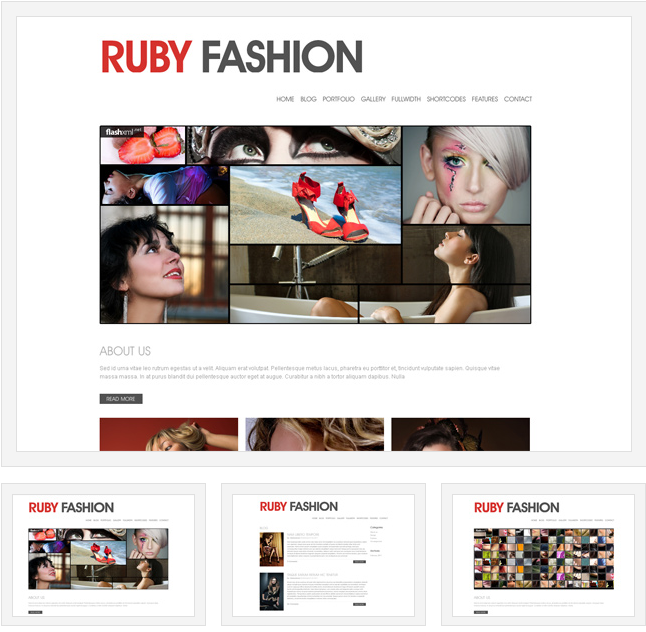 Ruby Fashion : A WordPress Template Theme With Flash Slider