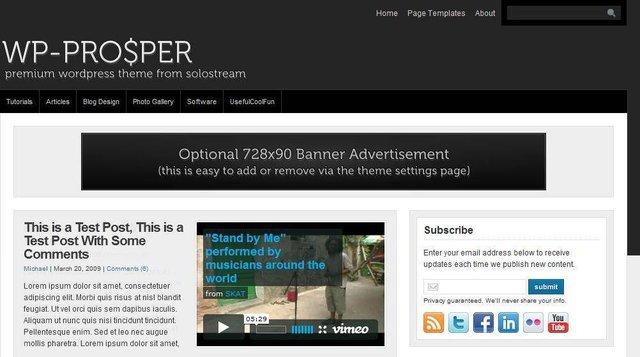 Solostream – WP Prosper v1.0 Premium WordPress Theme