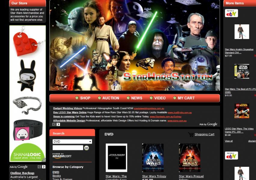 Star Wars Online Shop – Adsense, Amazon and eBay Business