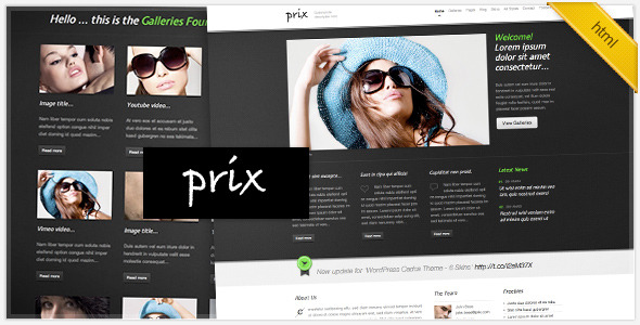 ThemeForest – HTML/CSS Prix Template