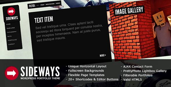 ThemeForest – Sideways Portfolio Website WordPress Theme v1.7.6