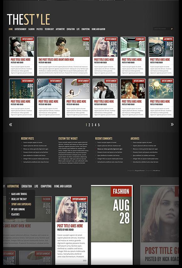 TheStyle v1.7 – October 2010 ElegantThemes Premium WordPress Theme