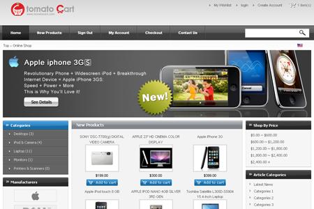 TomatoCart V1.2.0 Alpha Free Open Source Shopping Cart