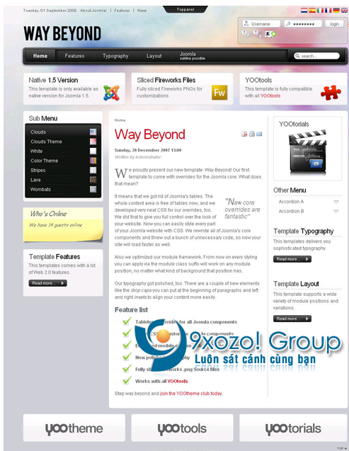 Way Beyond v5.5.10 Update – YooTheme Joomla Template