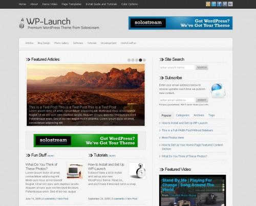 WP Launch – SoloStream Premium WordPress Theme
