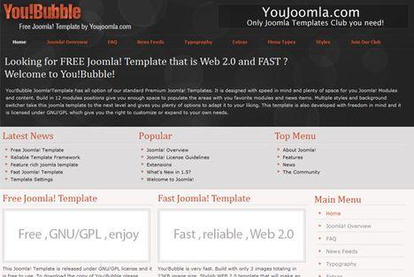 YouJoomla You!Bubble – Free Joomla Template