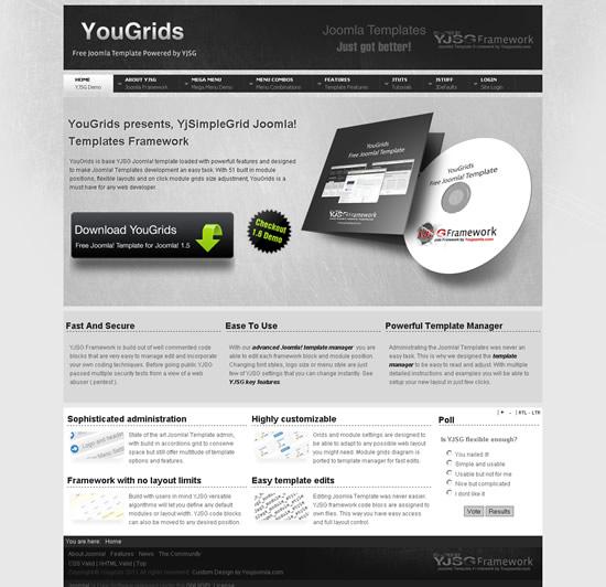 YouJoomla YouGrids – Free Joomla 1.6 Template