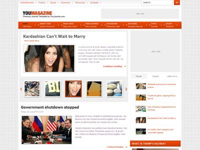 Youmagazine For Joomla 1.5 & Joomla 1.6 – News Joomla Template