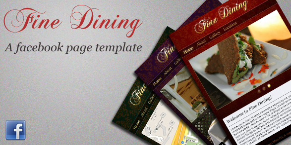ActiveDen – Fine Dining – Facebook Page Template – 3 Colours – Rip