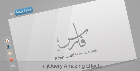 BuyStockDesign – Silver Card HTML Template