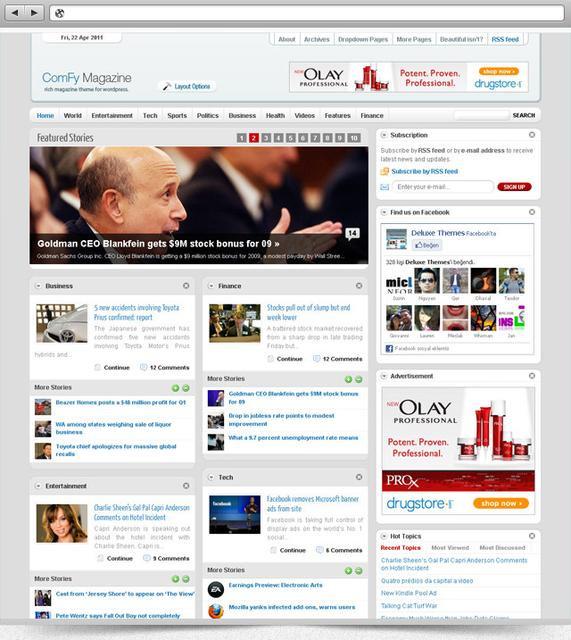 Comfy Pro v 1.2 – DeluxeThemes Premium WordPress Theme