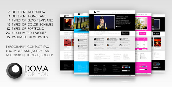 Doma powerful HTML, CSS template
