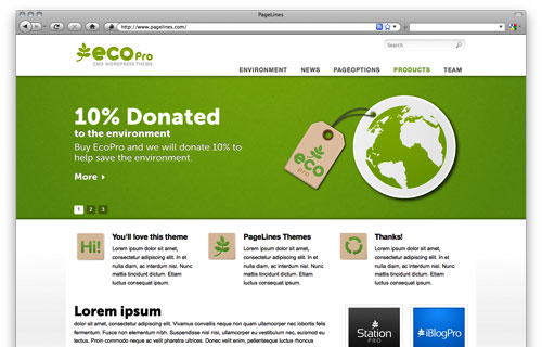 EcoPro v1.3.5 Premium WordPress Theme by PageLines