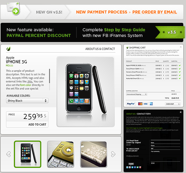Facebook Paypal Shop Template v3.5 by ActiveDen