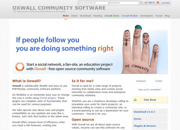 Oxwall 1.0.3 Script