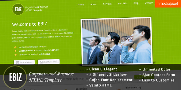 ThemeForest – EBIZ – Corporate and Business HTML Template