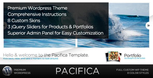 ThemeForest Pacifica – Premium WordPress Portfolio Theme