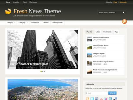 WooThemes Fresh News v3.1.4 – Premium WordPress Theme