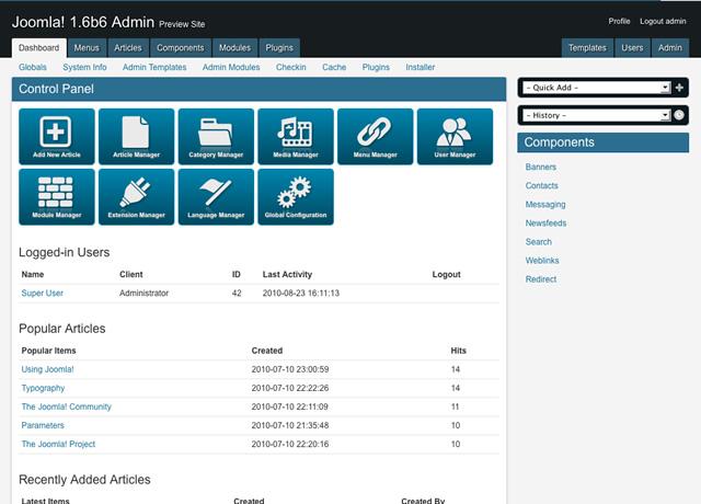 AdminPraise Lite – Joomla 1.6 &1.5 version