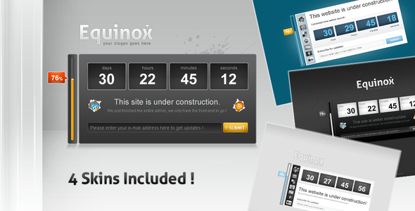 Coming Soon Under Construction 03 4 Skins by ThemeForest