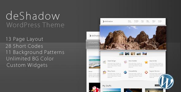 deShadow Premium WordPress Theme by ThemeForest