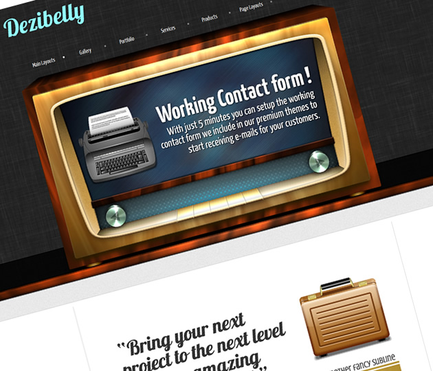 Dezibelly – Retro Vintage WordPress theme