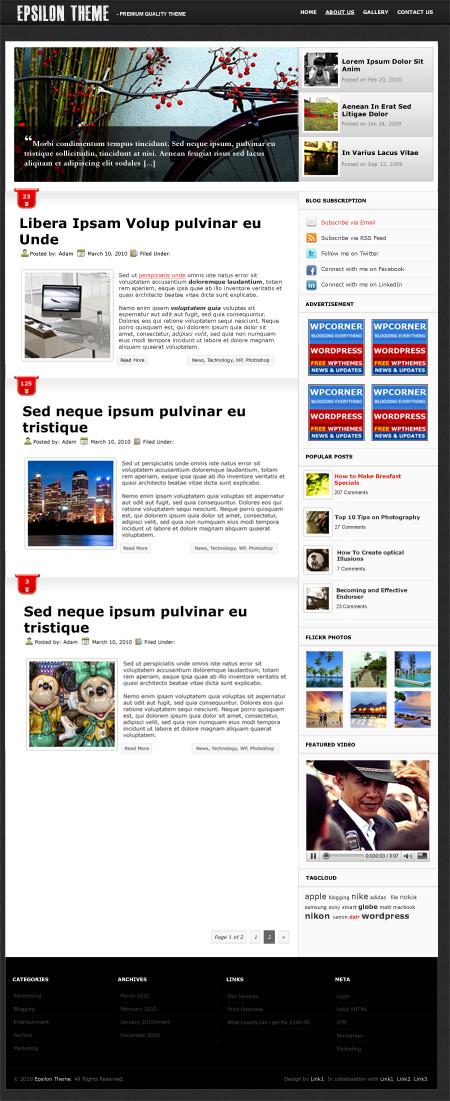 Epsilon Theme Free WordPress Theme