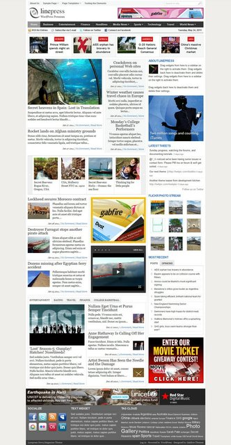 Gabfire LinePress 1.3 – News Magazine WordPress Theme