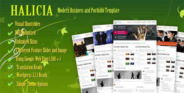 HALICIA FREE Premium Business and Portfolio WordPress Themes