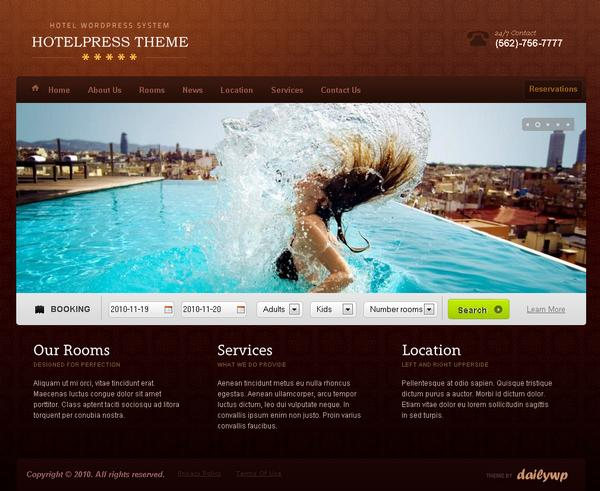 HotelPress Theme v2.0.0.5 incl. PSD for WordPress 3.x by DailyWP